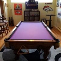 8ft Solid Oak Pool Table