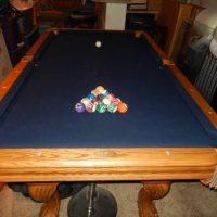 Pool Table 7' Excellent Shape With New Felt