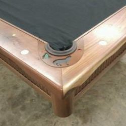 Custom Western 9' American Black Walnut Pool Table