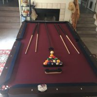 8 Foot Pool Table With Ping Pong Attachment