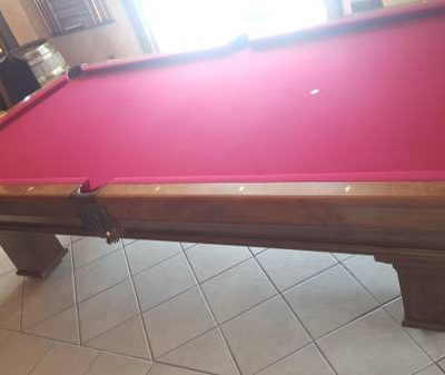 Beautiful Red Felt Pool Table