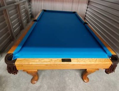 AE Schmidt 4x8 Oak Hardwood Pool Table