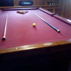 Beautiful Antique Pool Table
