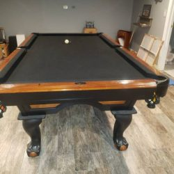 3 PC. Slate Pool Table