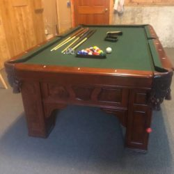 4ft x 8ft 3 Piece Slate Pool Table