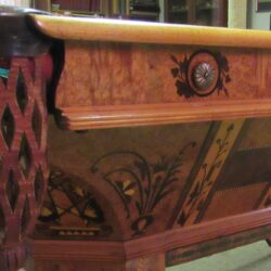 Three-piece Eight-foot Antique Pool Table