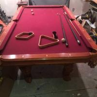 8' Slated Pool Table For Sale