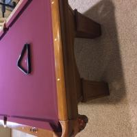 Brunswick 8ft maple table with burgandy felt